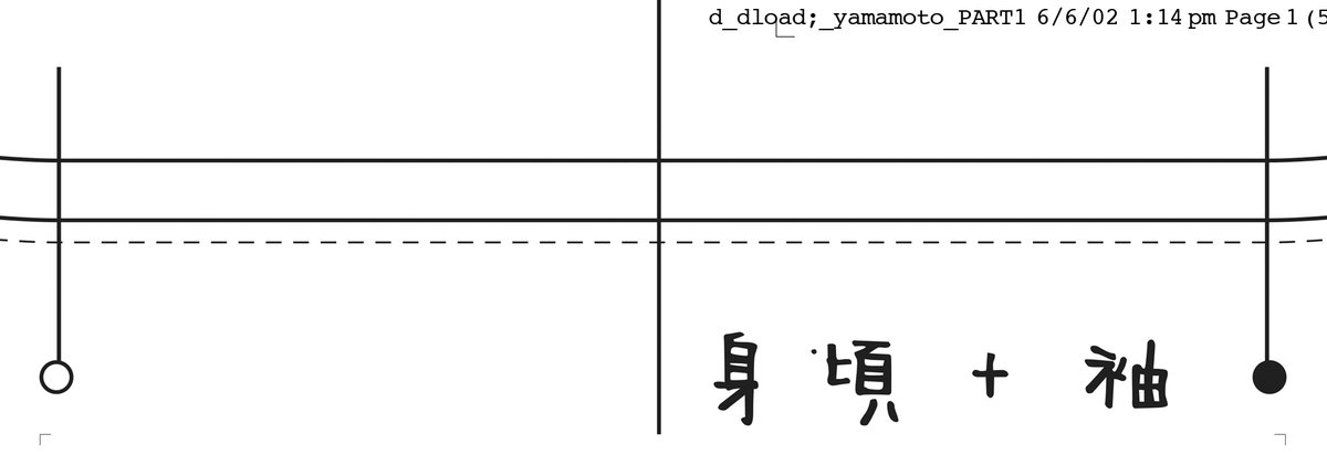 Yohji Yamamoto pattern at SHOWstudio