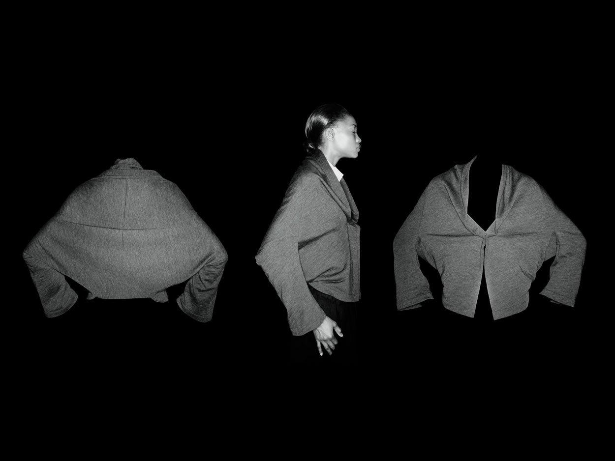 Yohji Yamamoto top photographed by Nick Knight