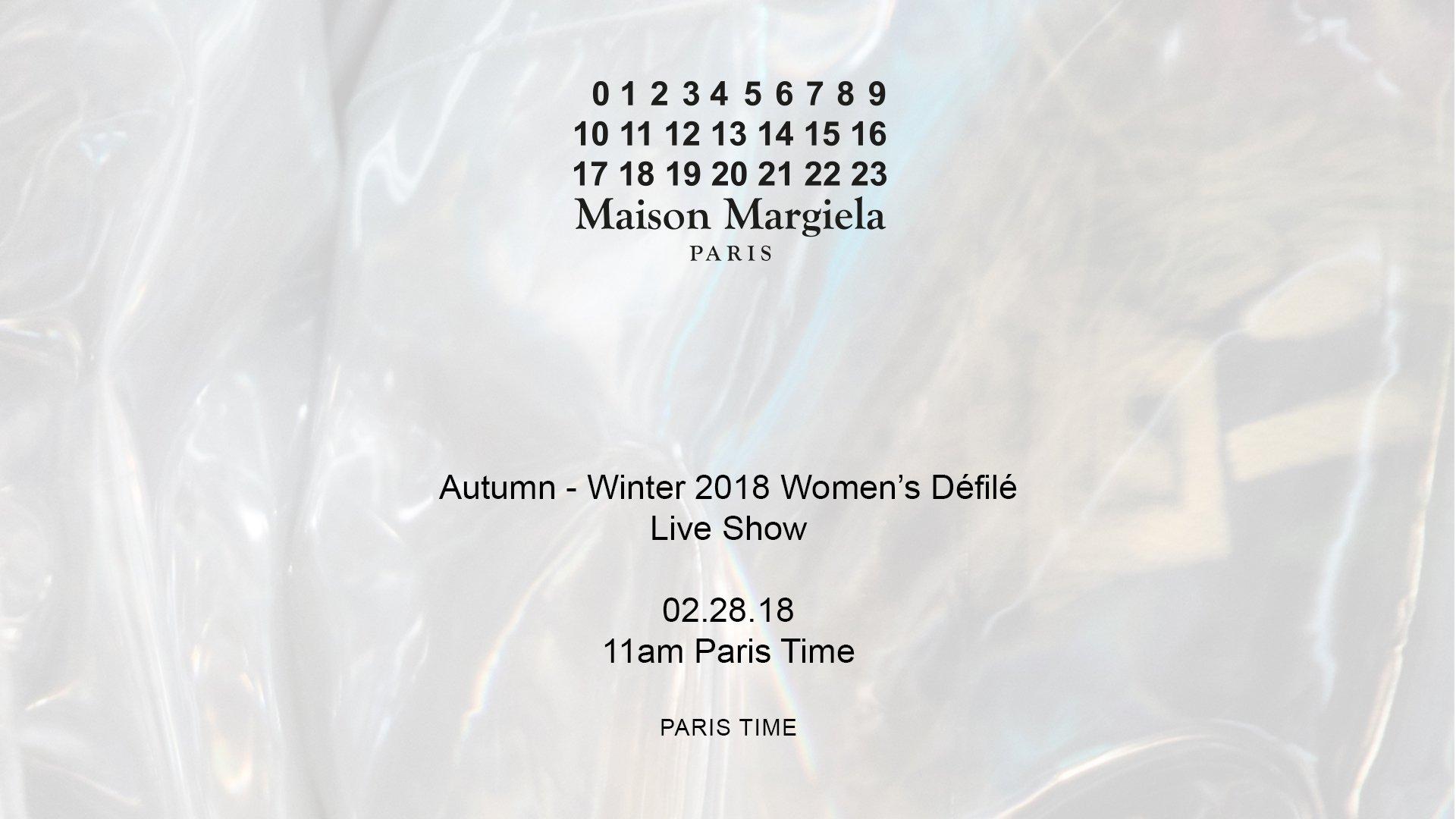 outlet store 8dc03 c3b3d Runway Show: Maison Margiela A/W 18 Womenswear